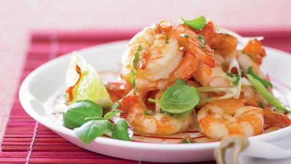 Spicy thai prawns