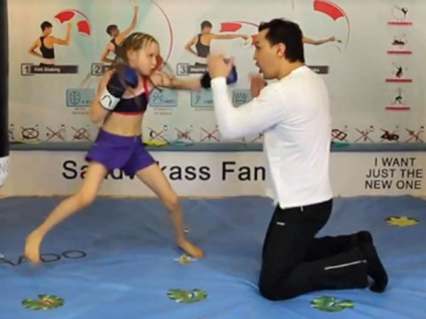Young girl dazzles with boxing skills