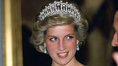 Princess Diana wearing a tiara