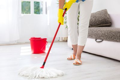 Mopping and vacuuming: 86 minutes