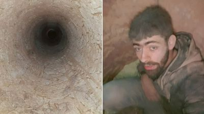 Young dad's selfie after 15m mineshaft plunge