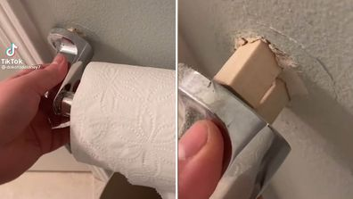 Woman discovers unusual home repairs done by the previous owners of her house