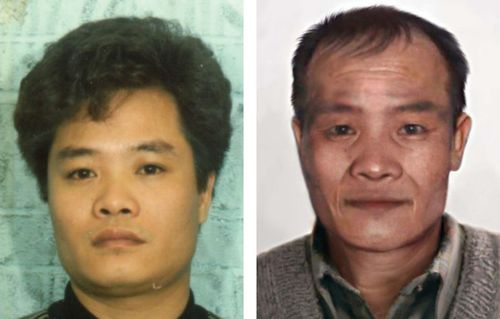 Hung Tien Pham (left) in 1989 and Pham (right) as he might appear today.