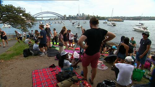 Revellers have sweated through a 30 degree day ahead of tonight.
