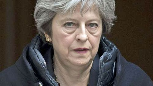 UK Prime Minister Theresa May is a member of the coalition carrying out the strikes.