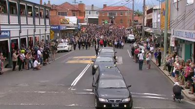 Hughes' family invited the entire town of Macksville to attend their son's funeral. (9NEWS)