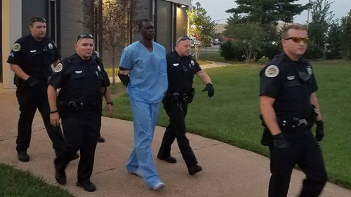 Mr Samson has been discharged from hospital and taken to jail. (Metro Nashville PD)