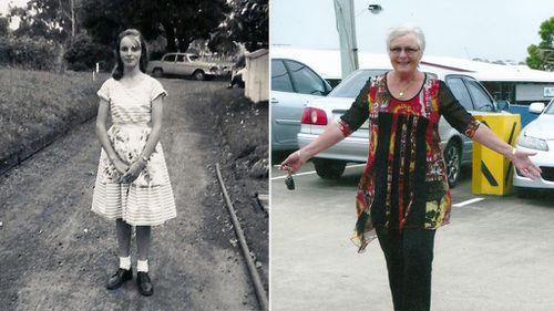 Before and after; care leaver Nola Chlopek, 68, was one of many women who lived at Linnwood Hall as a child. (FACS NSW/Nola Chlopek)