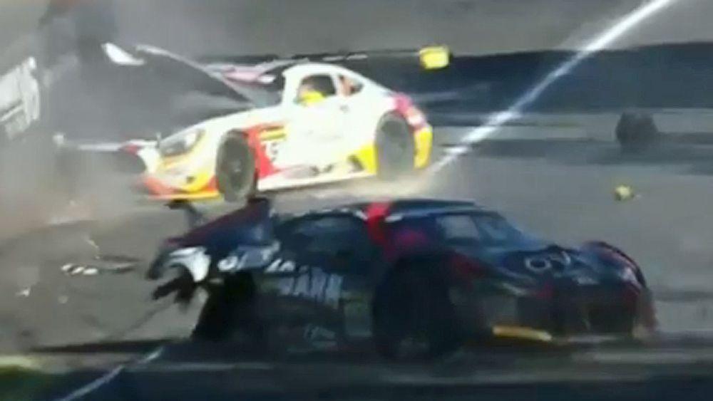 Motorsport: Audi wins crash-shortened Bathurst 12 Hour, Andrew Bagnall sent to hospital after smash