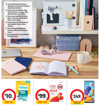 Coles has some pretty stationary on sale this week and who doesn't love that.