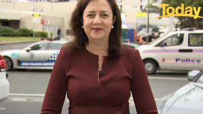Annastacia Palaszczuk warned of length delays as the border opened to travellers.