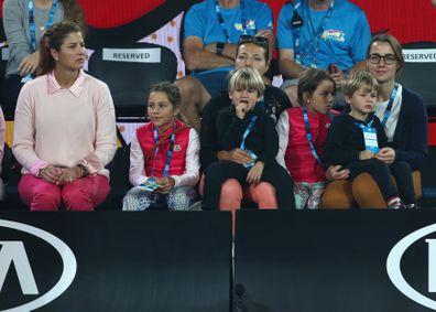 Mirka Federer, Myla Federer, Charlene Federer, Lenny Federer and Leo Federer