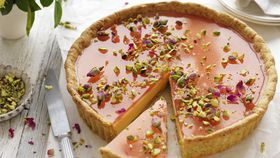 Rose and pistachio tart recipe