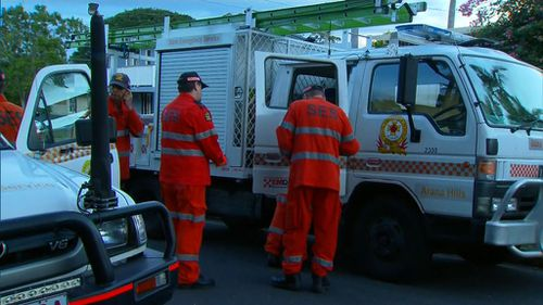 SES crews are joining police as they investigate whether the blaze was deliberately lit. (9NEWS)
