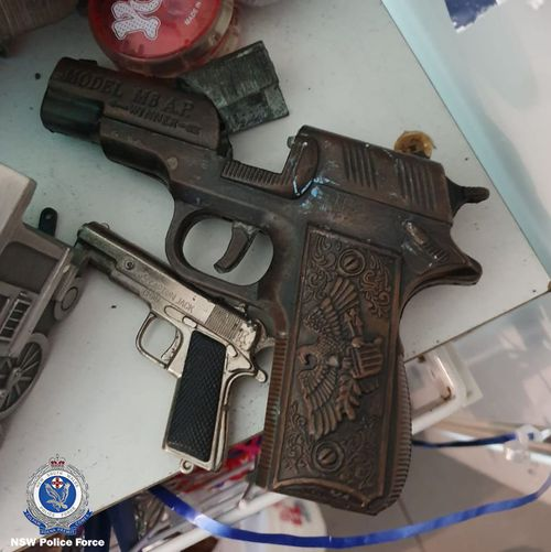 A firearm confiscated after police raids.