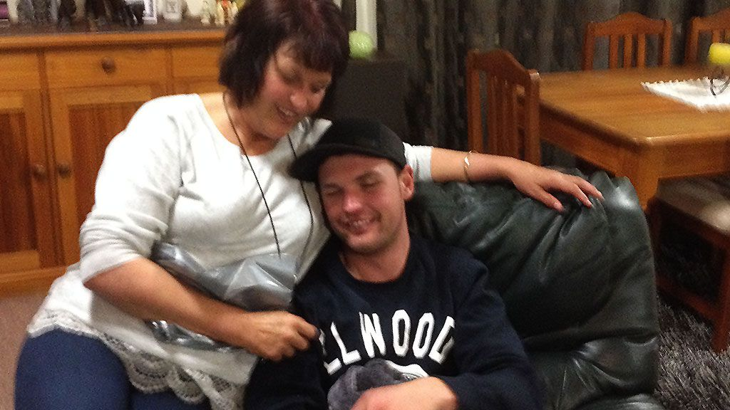 Dianne with her son Simon on his 25th birthday. Image: Supplied.