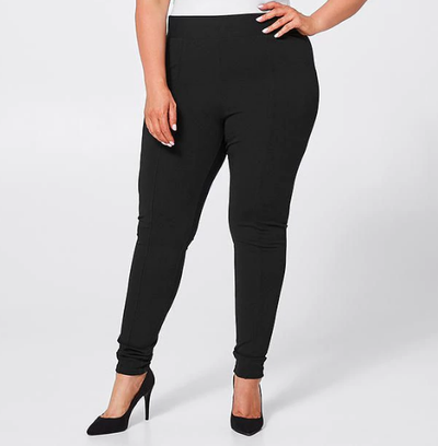 "<p><a href=""https://www.target.com.au/p/belle-curve-ponte-leggings-black/59994398"" target=""_blank"">Target Belle Curve Ponte Leggings in Black, $25.</a></p> <p>So cosy you can sleep in them. Maybe you did. Doesn't matter. Nobody will know.</p>"
