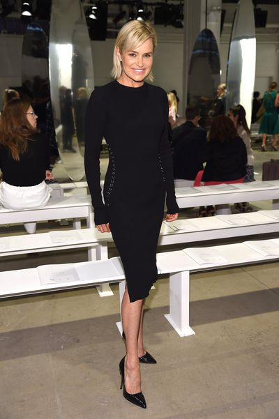 Yolanda Hadid at Prabal Gurung S/S'18 at New York City Fashion Week, September 2017