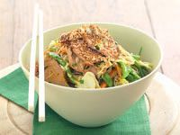 Barbecued pork and noodle salad