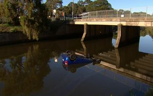 Men lucky to survive car crash into Sydney river