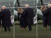 Oops! Melania's Hillary Clinton moment crossing White House lawn