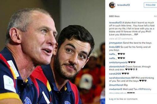 Adelaide players post touching tributes to murdered coach Phil Walsh