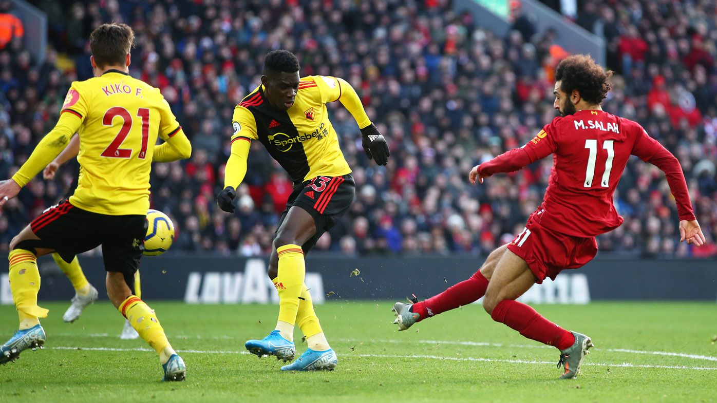 Mohamed Salah sends Liverpool 10 points clear with EPL defeat of Watford