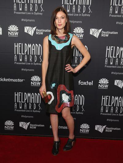 Tilda Cobham-Hervey at the Helpmann Awards 2017, Capitol Theatre, Sydney.