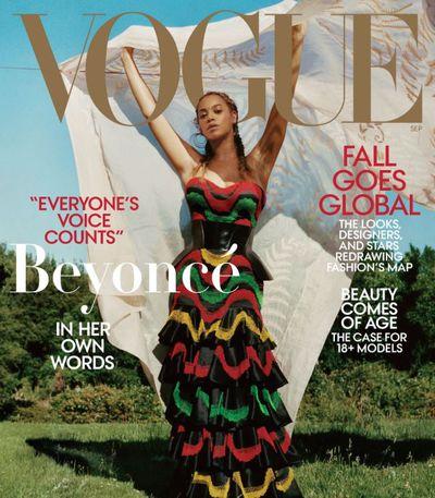 Beyoncé wears a Alexander McQueen dress and corset and Lynn Ban earrings