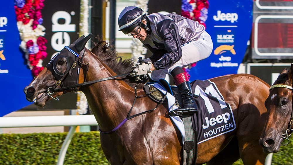 Houtzen won a brilliant Magic Millions Two-Year-Old Classic . (AAP)
