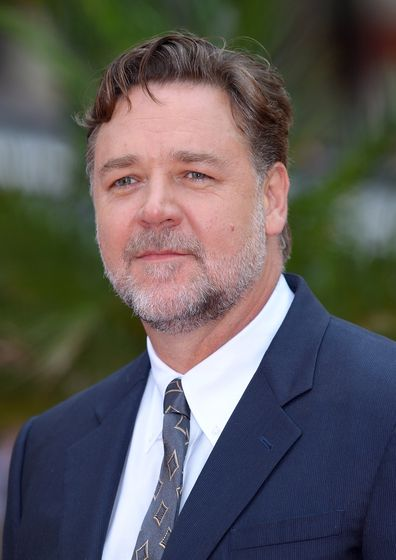 Russell Crowe arrives for the UK Premiere of 'The Nice Guys' at Odeon Leicester Square on May 19, 2016 in London, England.
