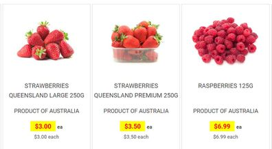 Berries are on special at Harris Farm Market this week.