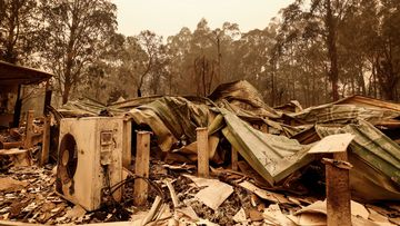 A view of fire damage on January 03, 2020 in Sarsfield , Australia.