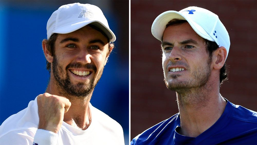 Jordan Thompson and Andy Murray.