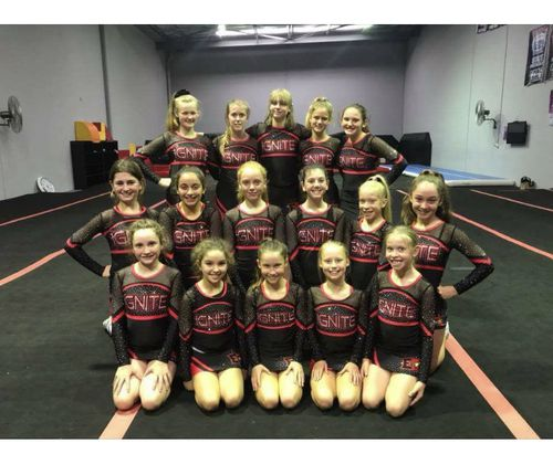 The team, consisting of athletes aged eight to 15, only started competing last July. (Extreme Cheer Allstars)