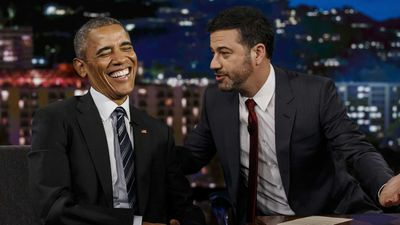 In perhaps the biggest shift in how presidents reached out to the people, Barack Obama became the first commander-in-chief to regularly appear on late night talk shows, like this appearance on Jimmy Kimmel Live! in 2016. (EPA)