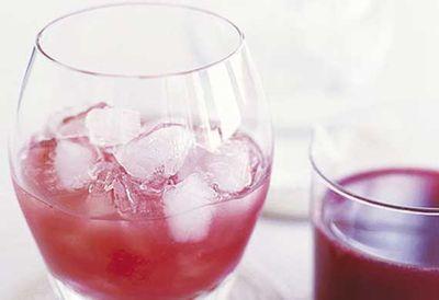 Strawberry blood orange cocktail