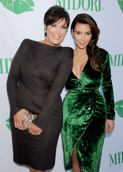 Kris Jenner and Kim Kardashian West, in Gucci, at the Midori Makeover Parlour event in California, September, 2012