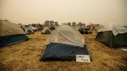 Meanwhile, makeshift camps have been set up for people who lost their homes in the fires.