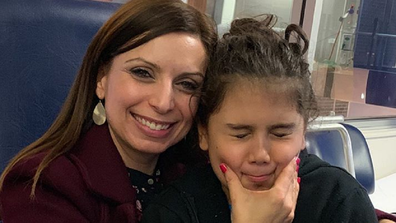 Jo Abi with her daughter Caterina, 10.
