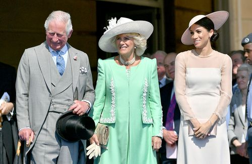 The couple were there to mark Prince Charles' 70th birthday. (PA/AAP)