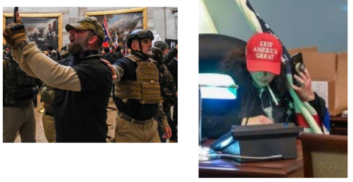 The DC Police have released this image, along with a host of others, of persons of interest following the Capitol riots.