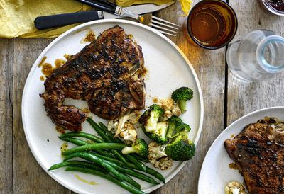 Monday: American-style barbecued T-bone steak