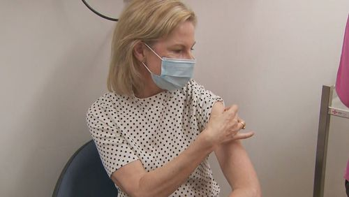 Professor Rhonda Stewart has the vaccine in Melbourne.