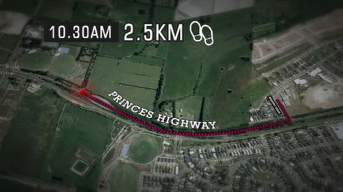 A passer-by found the five-year-old more than 2.5km from his daycare. (9NEWS)