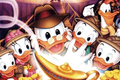 "If you're wondering who the hell ""Piscou"" is: ""Balthazar Picsou"" is Scrooge McDuck's French name. Once you know that, it makes sense that the French title for <I>DuckTales</I> is ""La Bande a Picsou""."