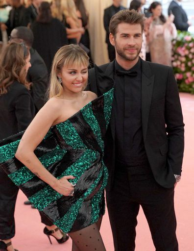 Miley Cyrus, Liam Hemsworth, Met Gala, red carpet