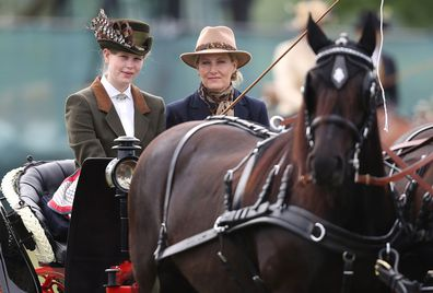 Queen Elizabeth horse riding at Balmoral Castle with Sophie Wessex and Prince Andrew