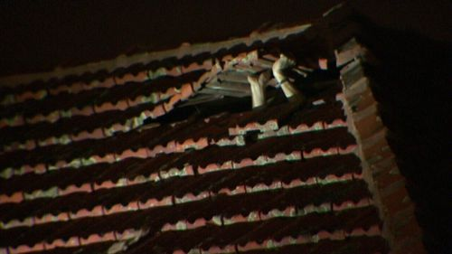The 21-year-old attempted to hide inside the roof. (9NEWS)
