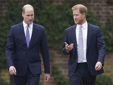 Prince William and Prince Harry statue unveiling